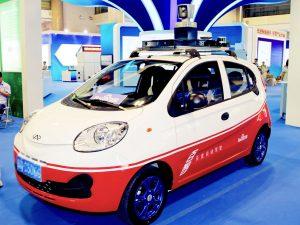 Беспилотные автомобили, chery qq, baidu+car-ed