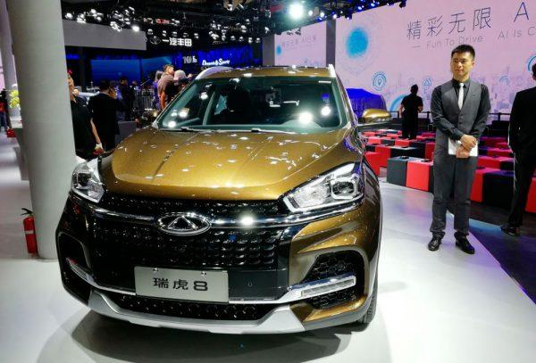 Chery Tiggo 8 фото с автосалона в Пекине 2018