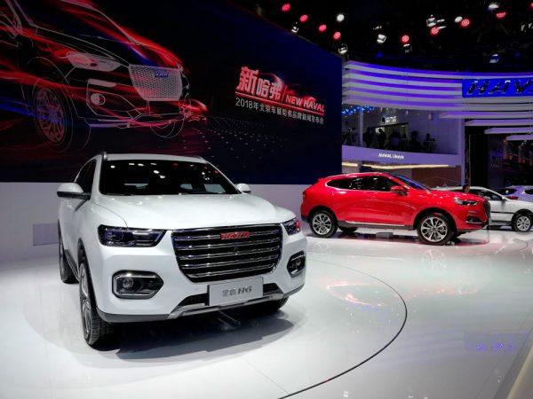 Обновленные модели кроссоверов Haval Н6 F5 на выставке в Пекине 2018