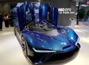 NIO EP9 - концепт кар на автомобильной выставке в Пекине